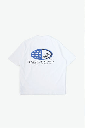 Oversized Pocket T-Shirt - Surf Team - White