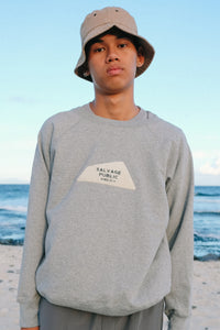 Sweatshirt Raglan - Logo Chenille - Heather Grey