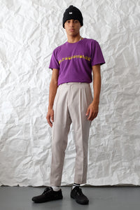 T-Shirt - Brand Outlines - Purple/Yellow