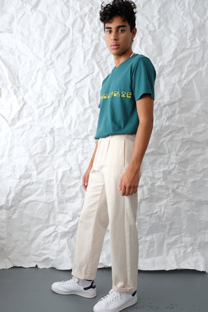 T-Shirt - Brand Outlines - Teal/Yellow