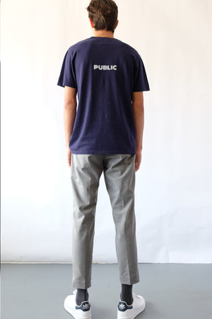 T-Shirt - Clean Lines, Organic - Navy