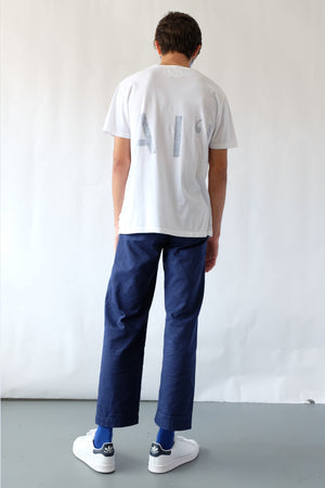T-Shirt - Hawaii Inside-Out - Navy/White