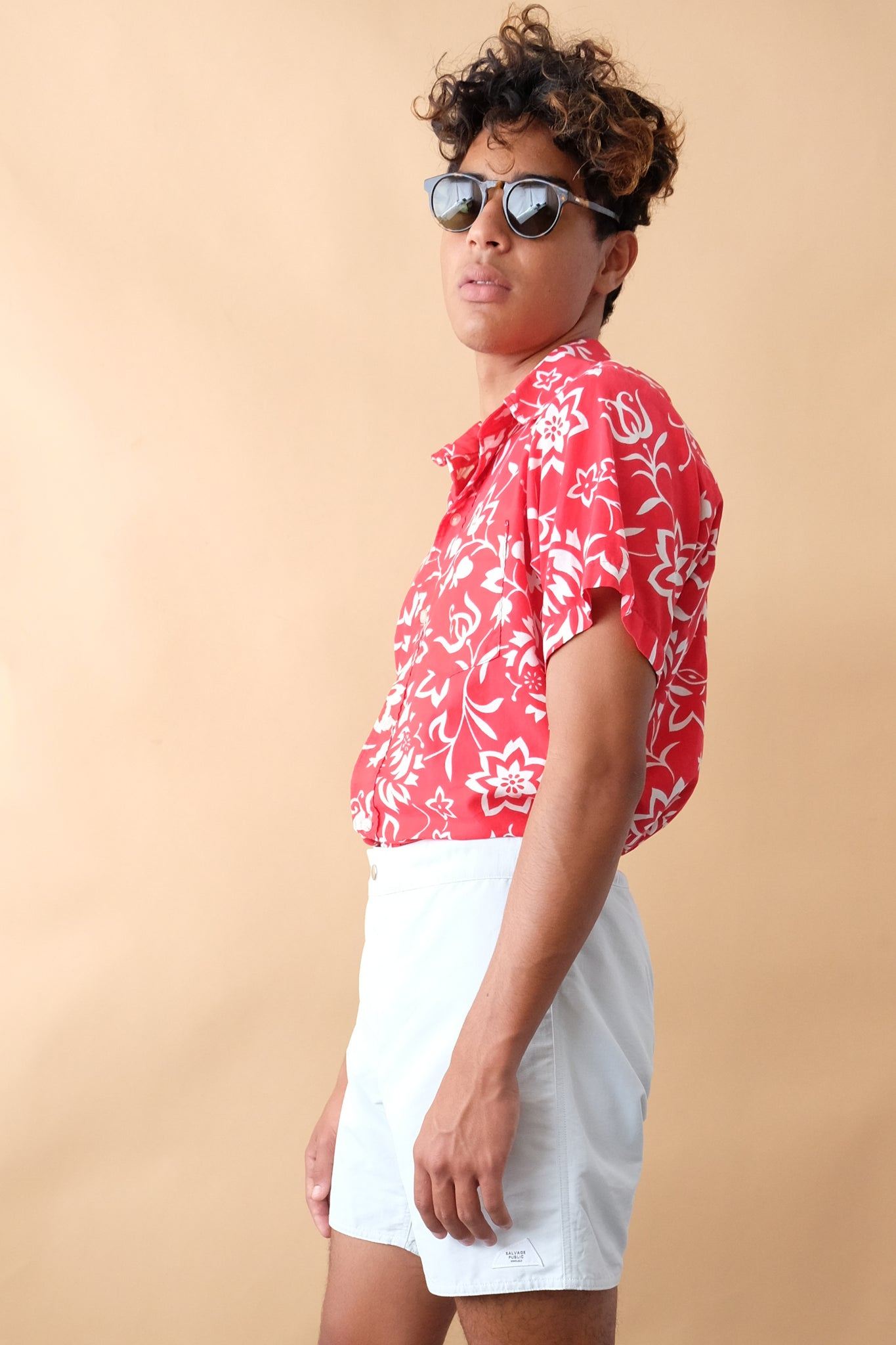 Vintage Aloha Shirt - Red/White