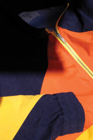 Jacket - Volcano Windbreaker - Navy/Orange/Yellow