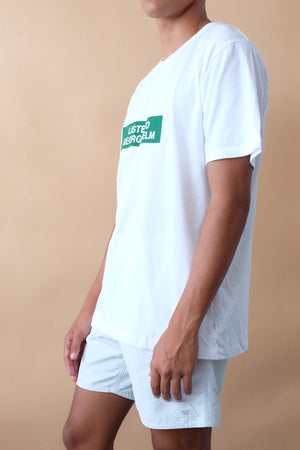 T-Shirt - George Helm - White/Green
