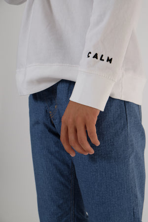 Sweatshirt - Cool & Calm - White