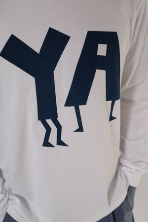 Long Sleeve T-Shirt - Ya - White