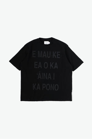 Oversized Pocket T-Shirt - Life of the Land - Black