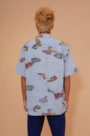 Vintage Aloha Shirt - Mark Raysten - Blue