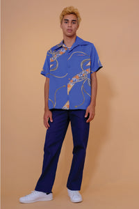 Vintage Aloha Shirt - Sears - Blue