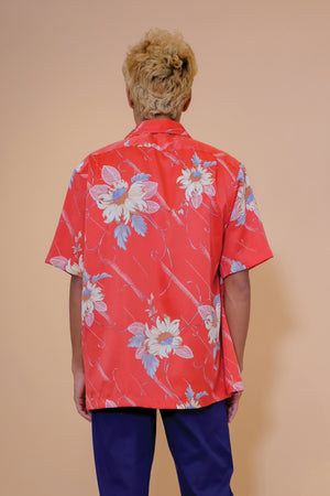 Vintage Aloha Shirt - Tori Richard - Red