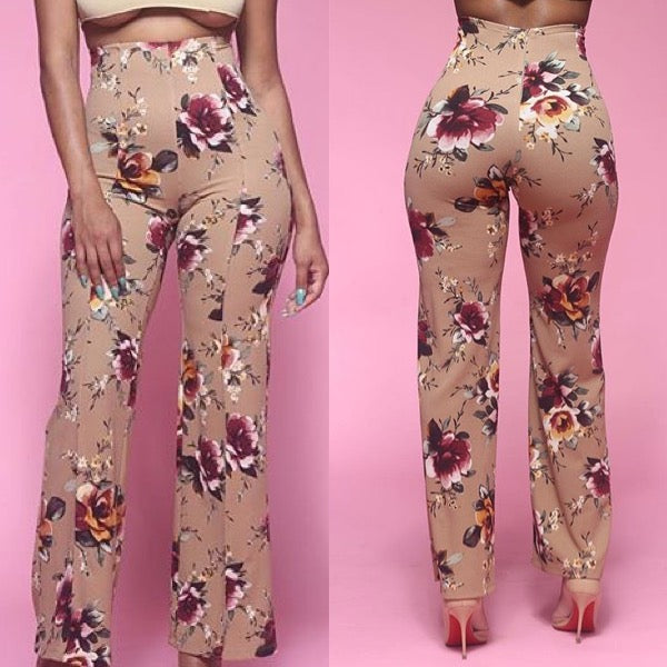 Fall floral pant