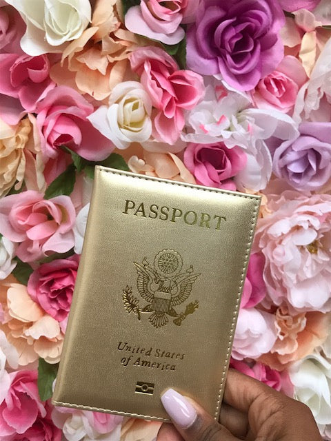 All Gold Everything Passport Cover