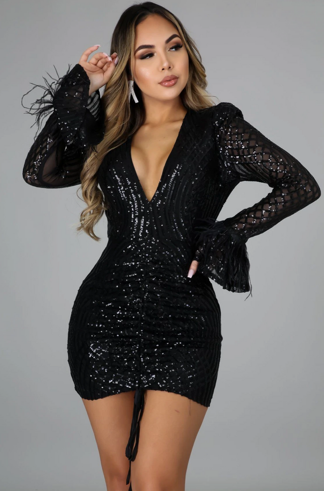 Black life of the party dress