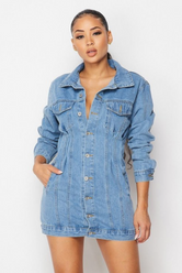 Waisted denim jacket