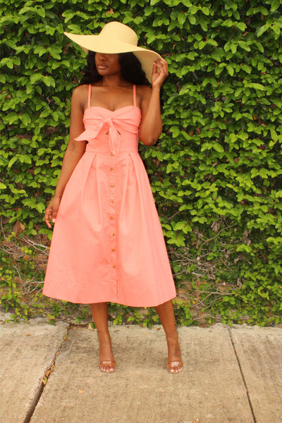 Peach pocket dress