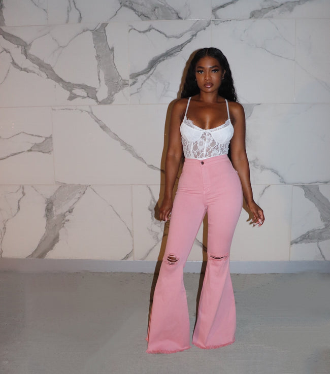 Blush bell bottoms