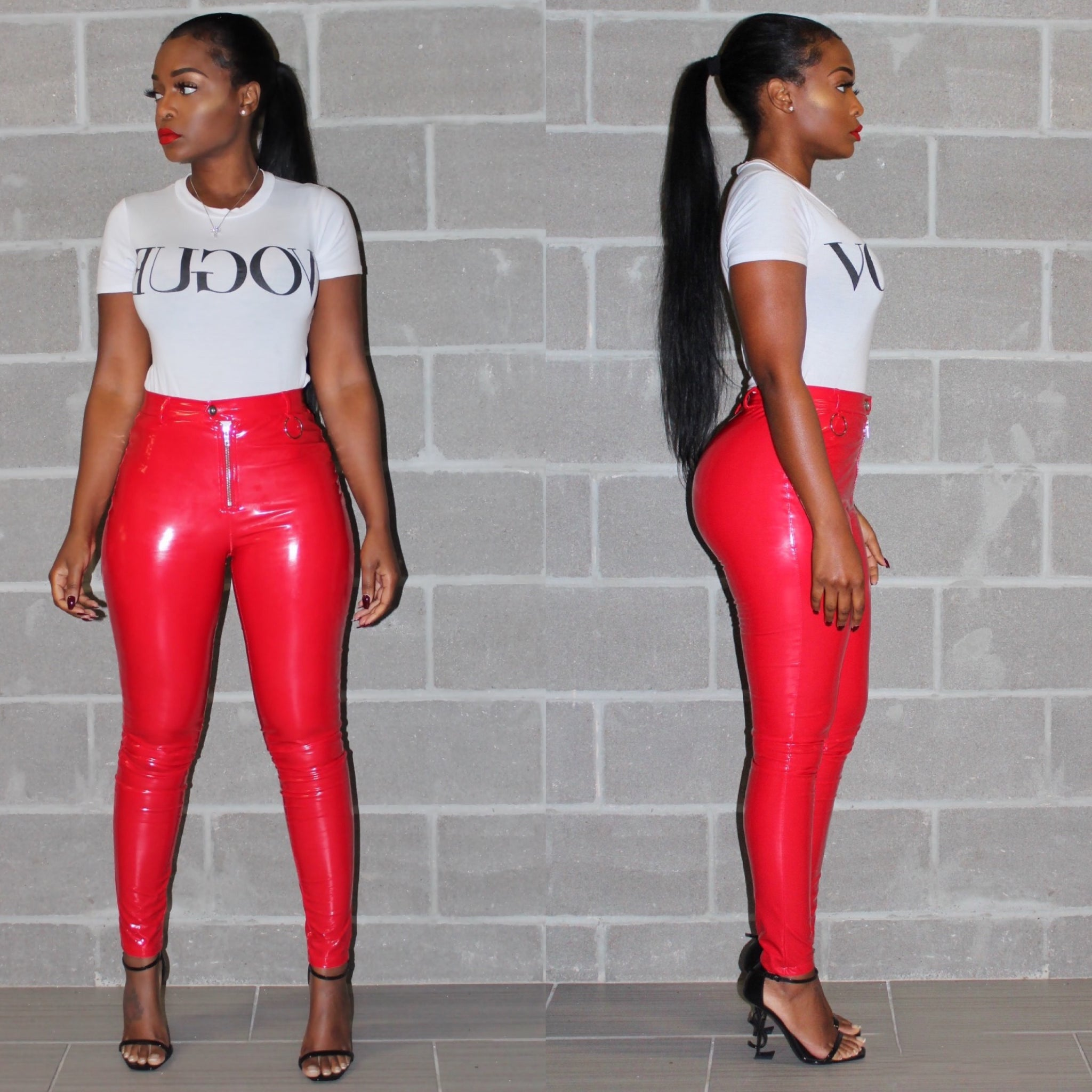 Red Luxe Latex pants