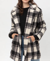 Black flannel coat
