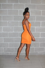 Tangerine mini dress