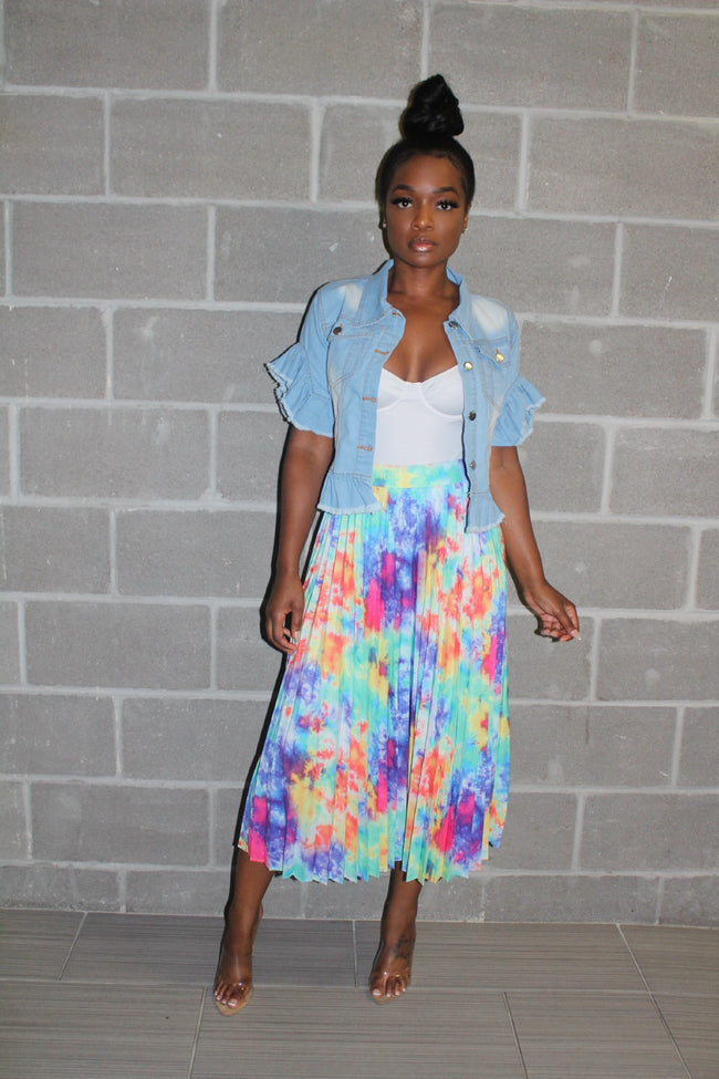 Summer water color skirt