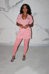 Blush stripe chill set