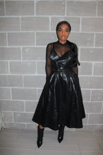 Prissy leather dress