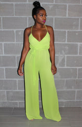 Neon breezy jumpsuit