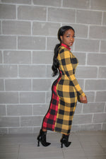 Double flannel dress