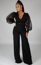 Black Victoria jumpsuit