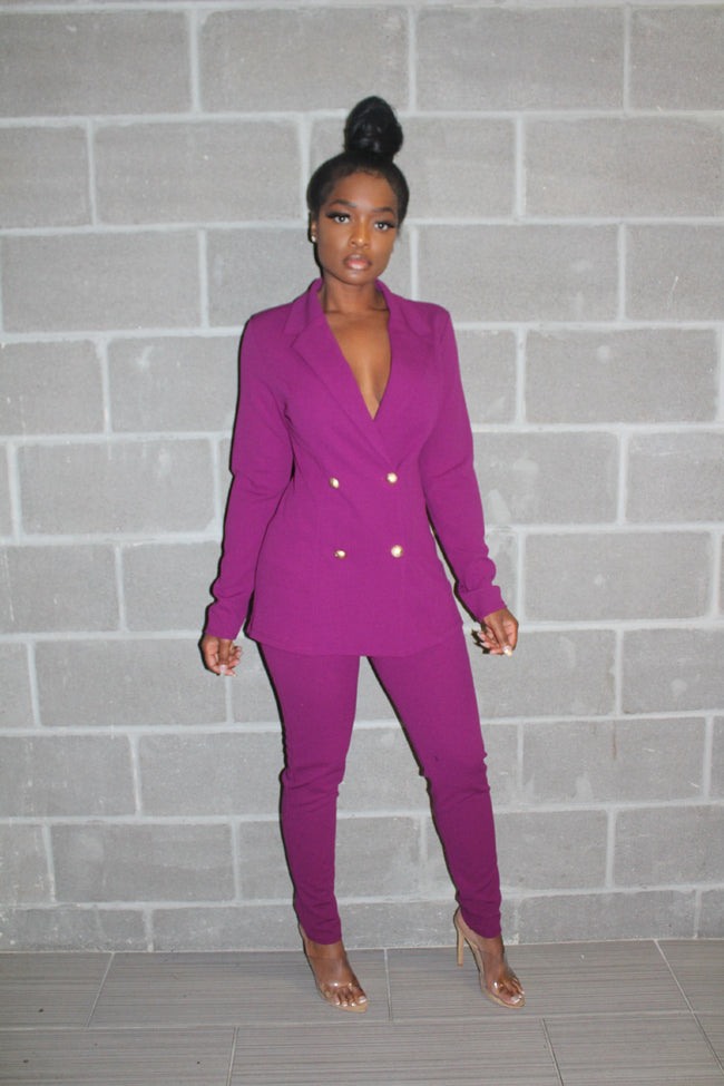 Perfect purple suit