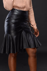 The Flair leather skirt