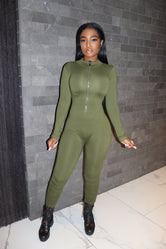Olive Long sleeve Lucky Jumpsuit