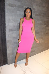 Pink racer back dress