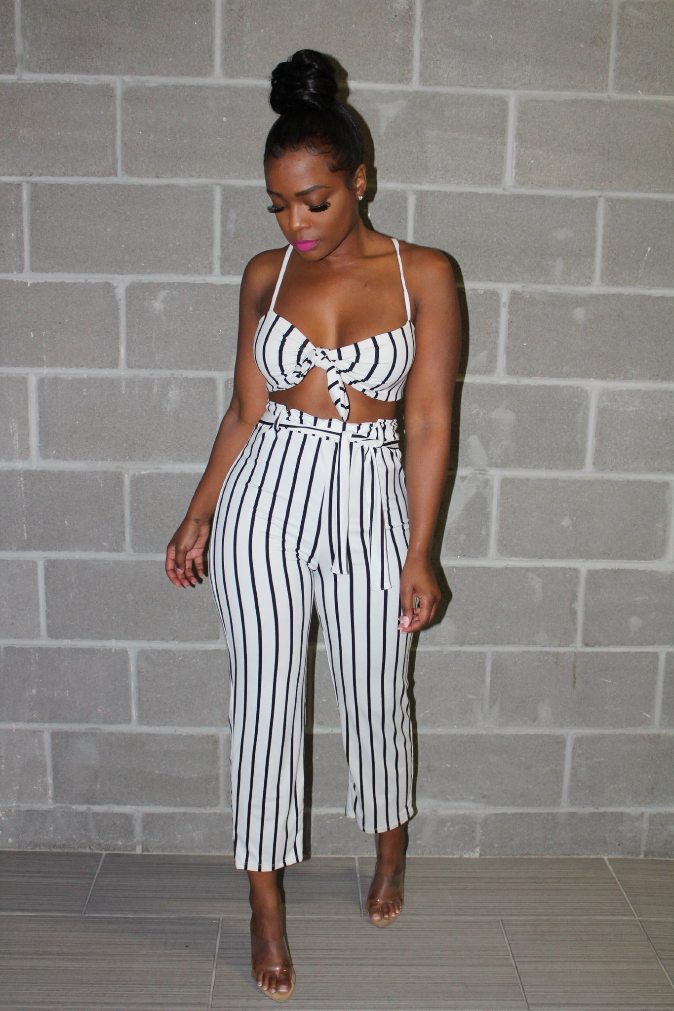 White cancun Pant set
