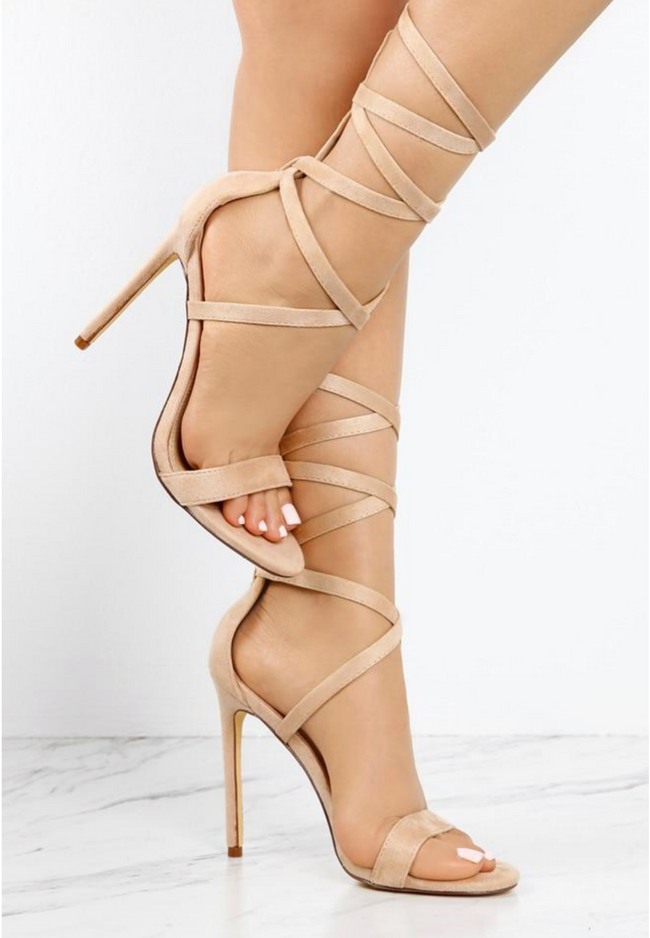 Nudist stappy heel