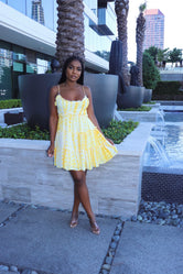 Yellow Baby Doll Dress