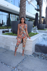 strappy tribal jumpsuit