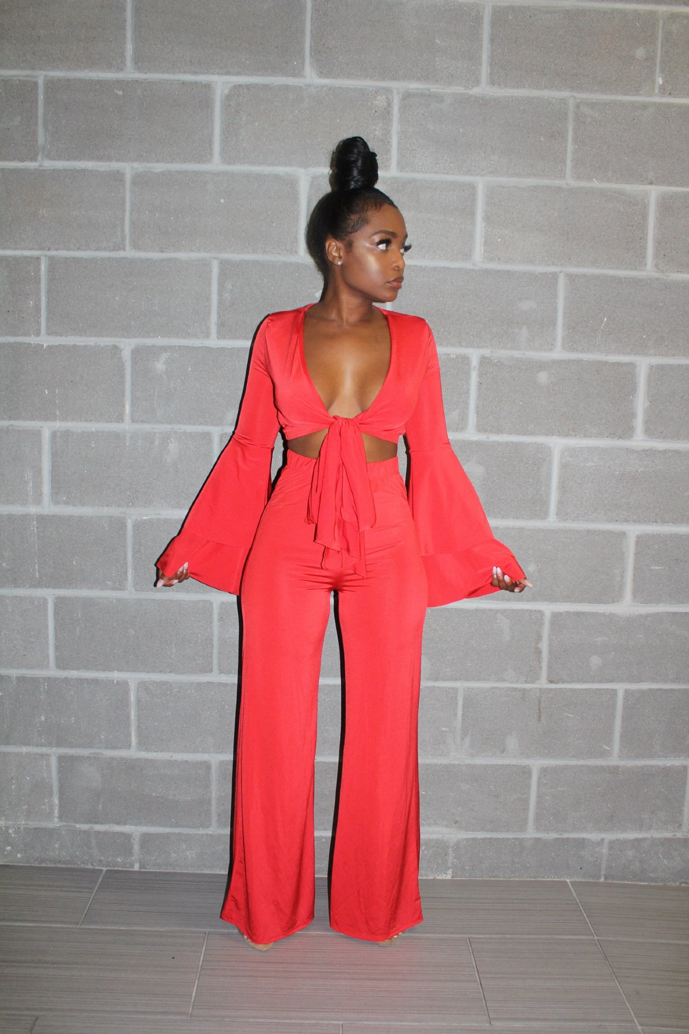 Red royalty pant set
