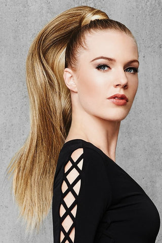 LONG STRAIGHT PONYTAIL WRAP 25""