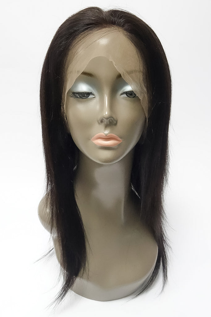 "360 Lace Wig | 100% Human Hair Straight 14"" 150% Density"