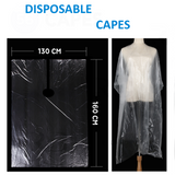 Disposable capes for hair color, haircut