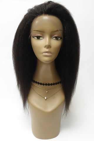 360 Lace Wig | 100% Human Hair Straight Blunt Cut 150% Density