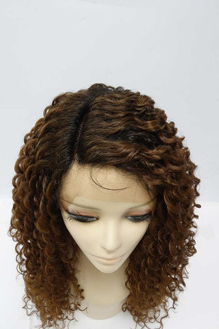 TESLA | Synthetic Curly Long Lace Front Wig