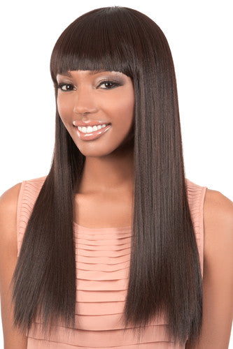 Y. AMY | Synthetic Long Bob Wig with Blunt China Bangs
