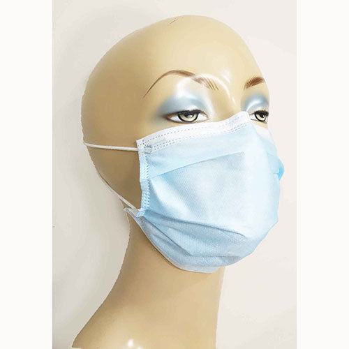3-ply protective face mask disposable color blue