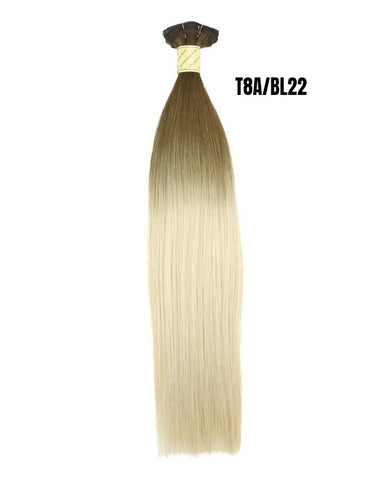 "Lengths | 100% Human Hair Remi Clip In Extensions 22"" Long"