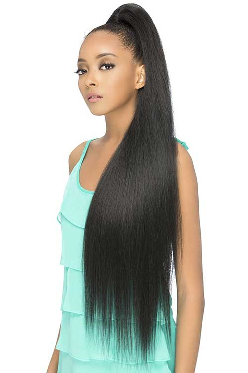 "Super long 36"" heat friendly synthetic ponytail hairpiece"