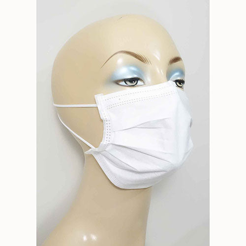 4-ply protective face mask disposable color white