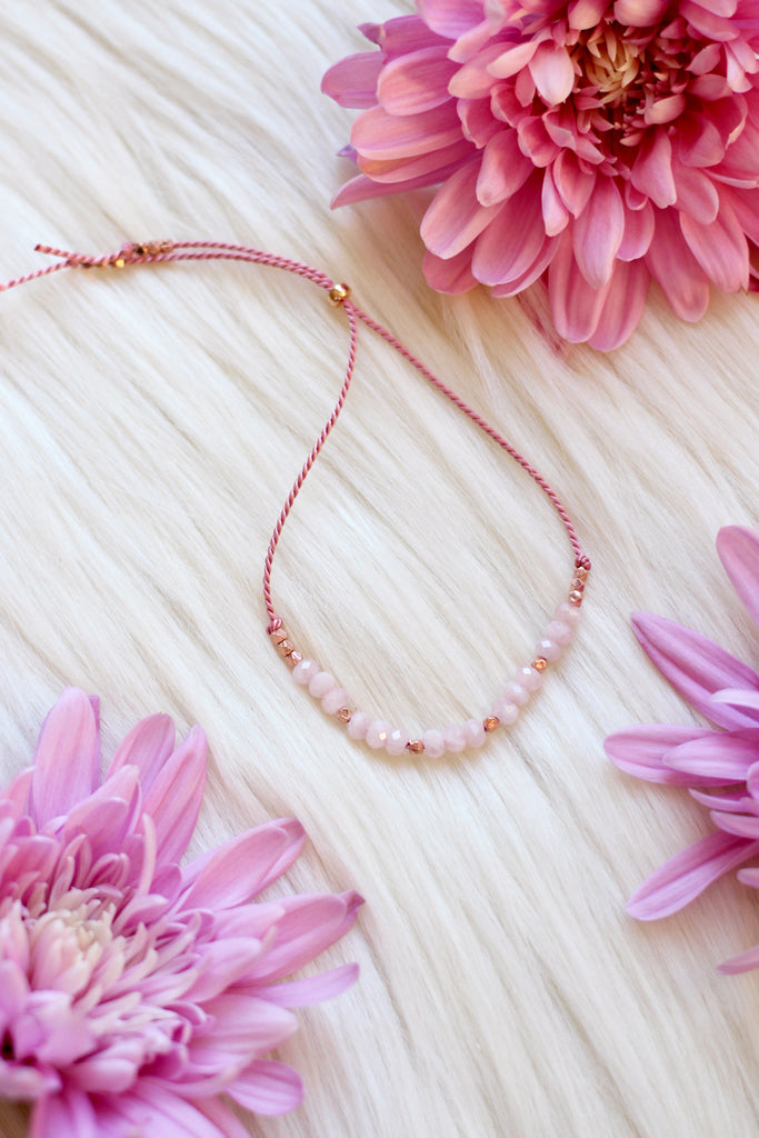 BLOSSOM Rose Quartz Intention Thread
